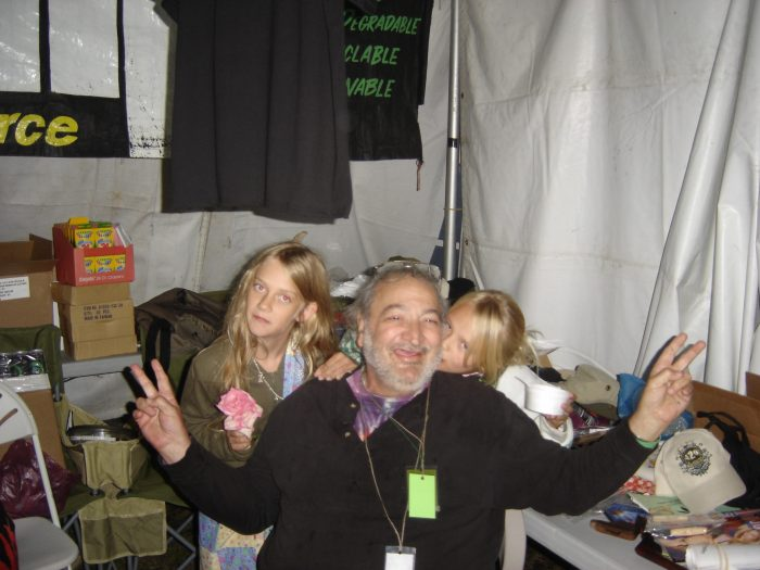 My daughter, Dylan (left), Jack & an unknown sprite, Seattle Hempfest 2008